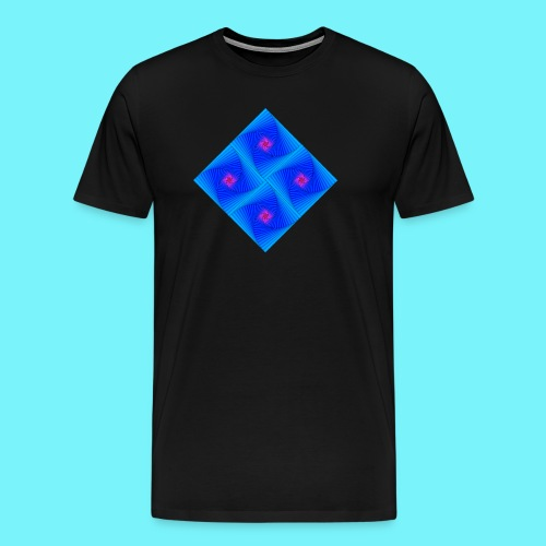 Curves of pursuit design 2 - Men's Premium T-Shirt