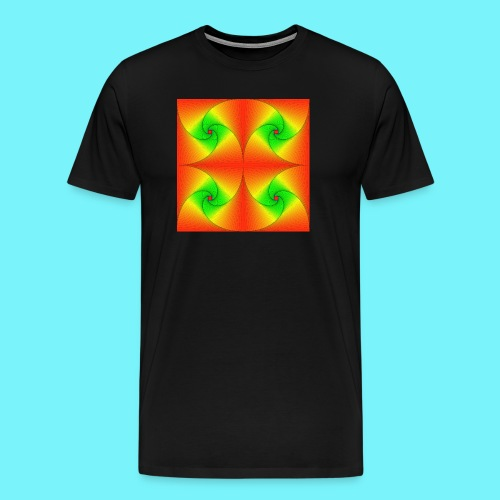 Pursuit curves in red and green - Men's Premium T-Shirt
