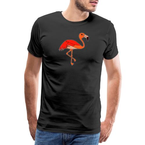 Flamingo - orange-rot - Männer Premium T-Shirt