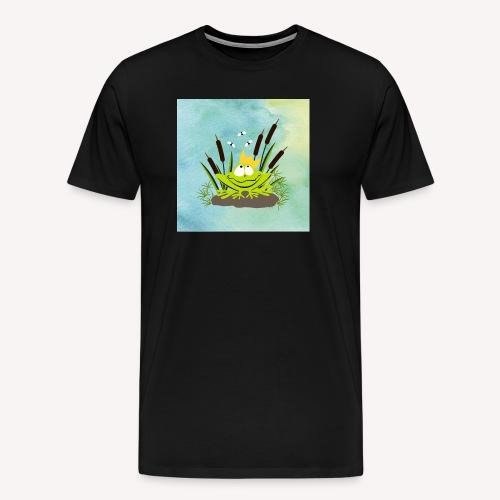 frog king watercolor - Männer Premium T-Shirt