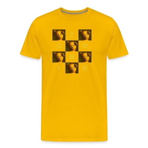 Zombie Teddy Bear Design - Men's Premium T-Shirt