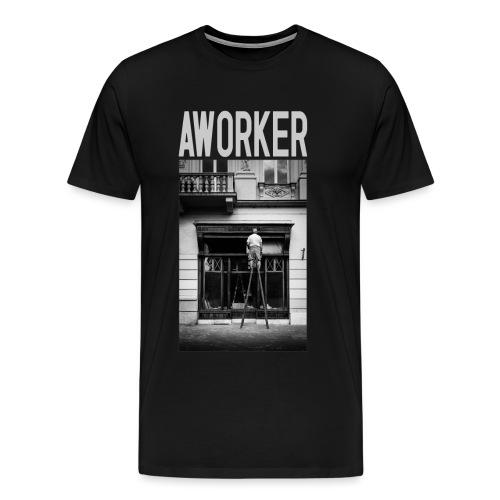 aworker v2 1 png - Men's Premium T-Shirt