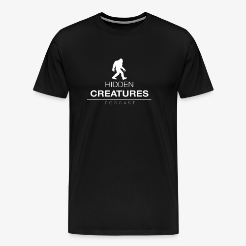 Hidden Creatures Logo White - Men's Premium T-Shirt
