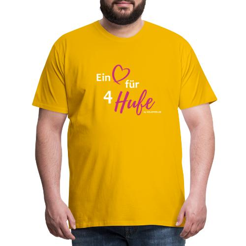 Ein Herz für 4 Hufe_Pfad - Männer Premium T-Shirt