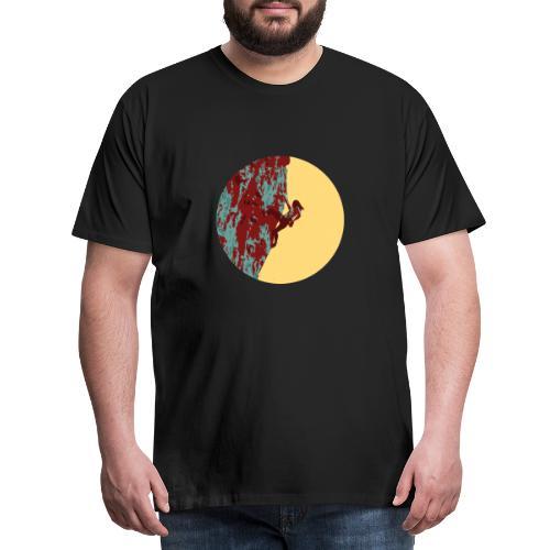 Klettrerin bei Tagesanbruch - Männer Premium T-Shirt