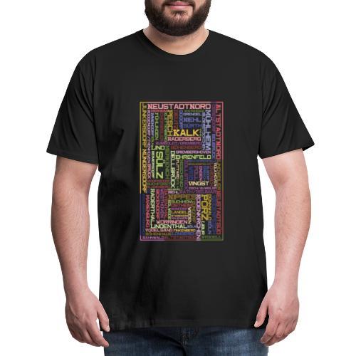 Stadtteile Mosaik - Köln - Männer Premium T-Shirt