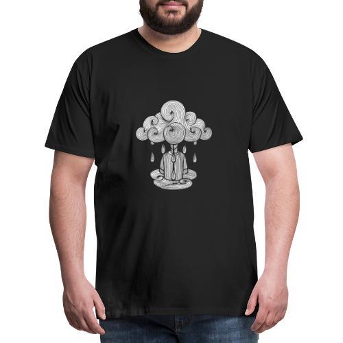 nuage, lundi nuage pluie, le lundi c'est nul... - T-shirt Premium Homme