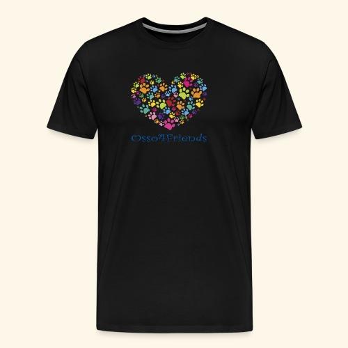 CUOREZAMPE - Maglietta Premium da uomo