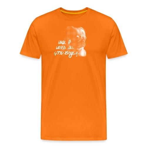What if we're all good boys? Nachdenklicher Mops - Männer Premium T-Shirt