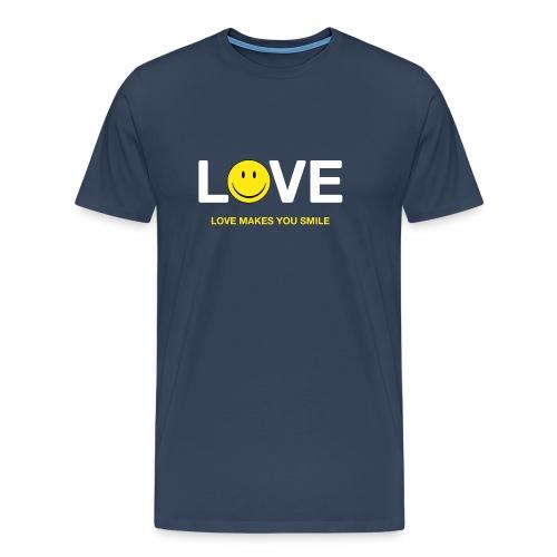 Love Makes You Smile - Men's Premium T-Shirt
