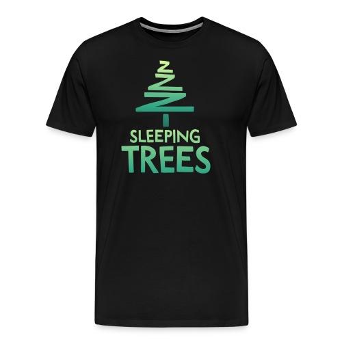 SleepingTrees Colour DarkBackground png - Men's Premium T-Shirt