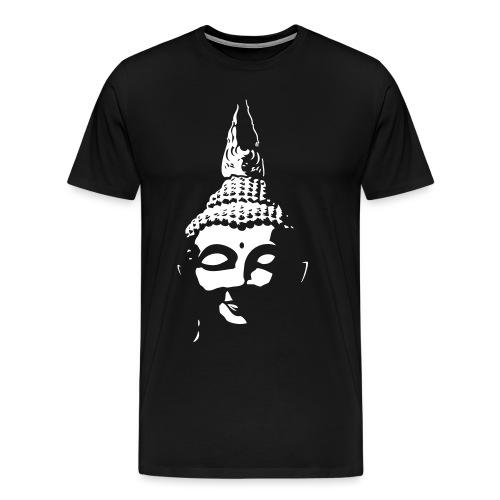 Boeddha hoofd diapositief - Mannen Premium T-shirt