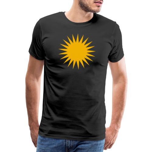 Kurdische Sonne Symbol - Männer Premium T-Shirt