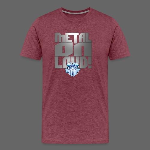 metalonloud large 4k png - Men's Premium T-Shirt