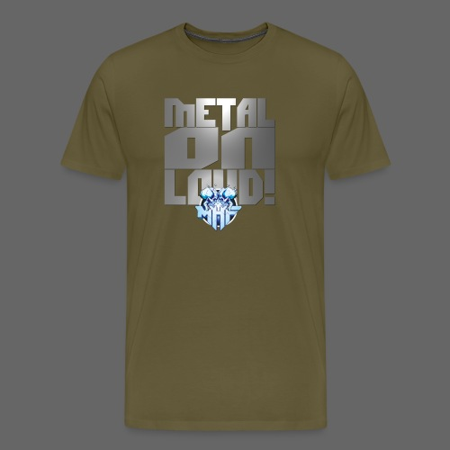 metalonloud large 4k png - Men's Premium T-Shirt