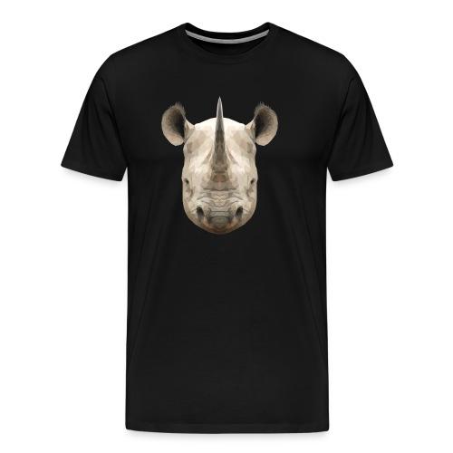 LowPoly Rhino - Premium-T-shirt herr