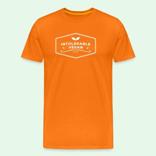 Intolerable Vegan Logo - White - Premium-T-shirt herr