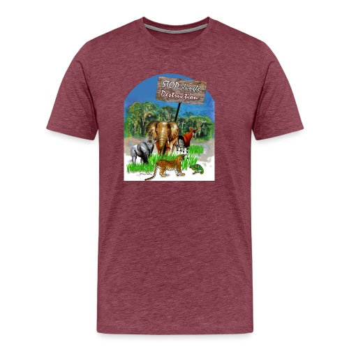 STOP - Jungle Destruction - Männer Premium T-Shirt
