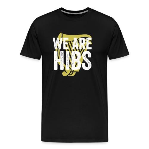 WEAREHIBS WhiteWithGoldHarp - Men's Premium T-Shirt