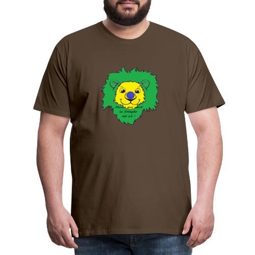 Lion supporter Brésil - T-shirt Premium Homme