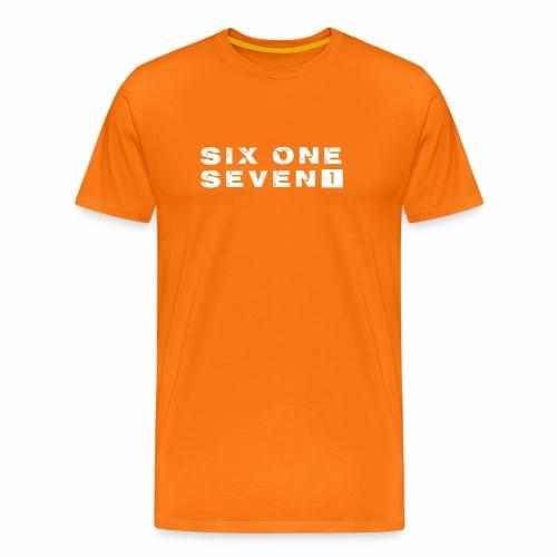 SIX ONE SEVEN 1 PROJECT LOGO FULL 1 WHITE - Men's Premium T-Shirt