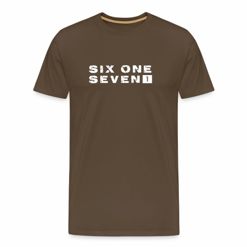SIX ONE SEVEN 1 PROJECT LOGO FULL 1 WHITE - Men's Premium T-Shirt