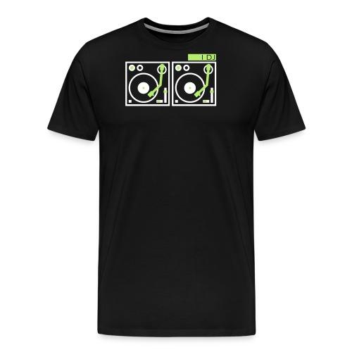 I DJ on 2 Turntables - Men's Premium T-Shirt