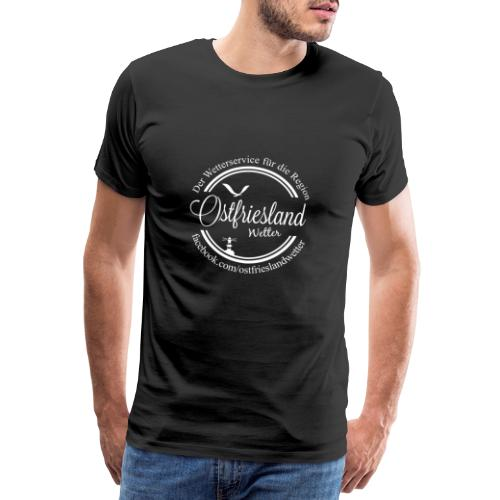 Ostfriesland Wetter Logo mit Text - Männer Premium T-Shirt