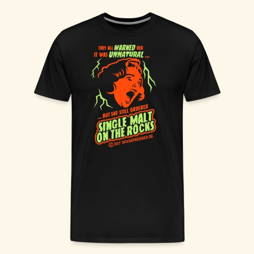 Single Malt on the Rocks - das Original - Männer Premium T-Shirt