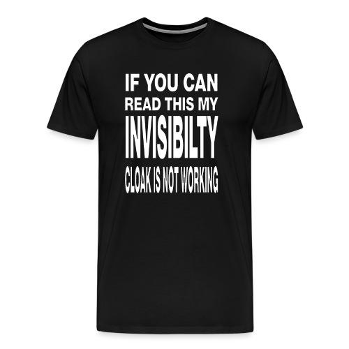 Invisibility Cloak gif - Men's Premium T-Shirt