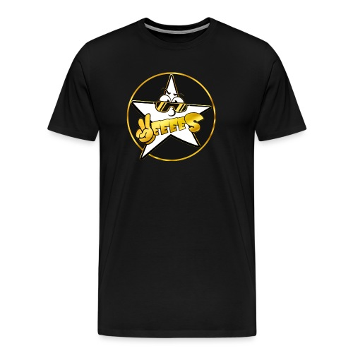 Gold schwarzer Yes Stern Logo Hoody - Männer Premium T-Shirt