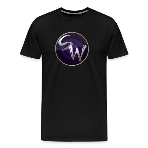 round logo hoodie - Mannen Premium T-shirt