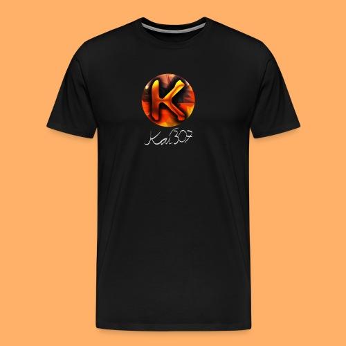 Kai_307 - Profilbild + Unterschrift Weiß - Männer Premium T-Shirt