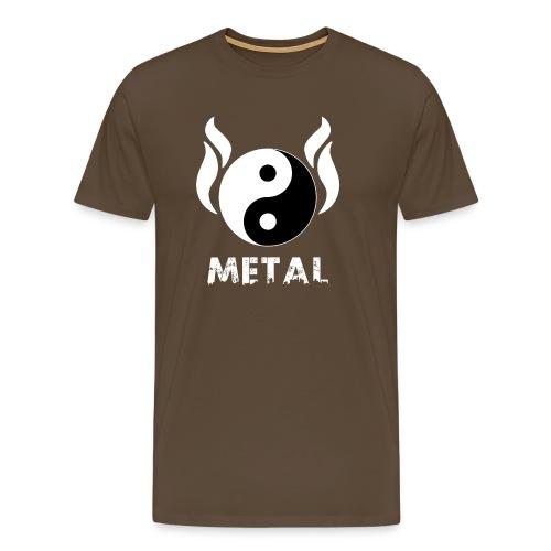 YIN YANG METAL - Männer Premium T-Shirt