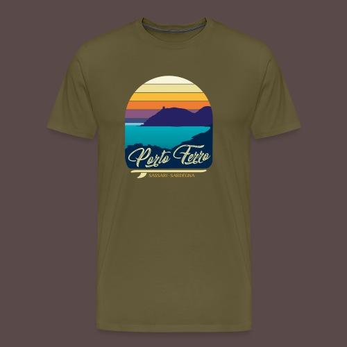 Porto Ferro - Vintage travel sunset - Maglietta Premium da uomo