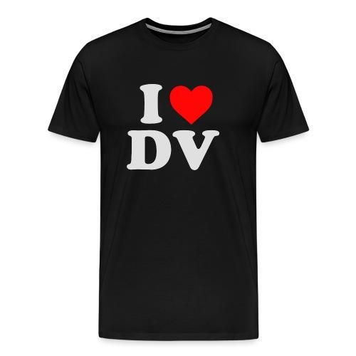 I heart dv heller Aufdruck - Männer Premium T-Shirt