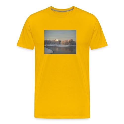 Talvinen Joensuu - Miesten premium t-paita