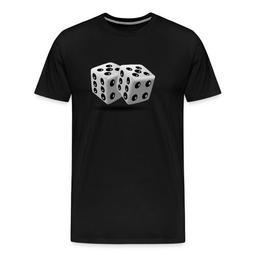 dices 160005 png - Männer Premium T-Shirt