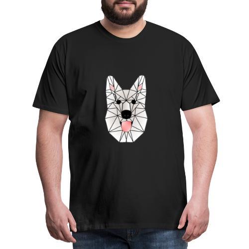 Wild White Wolf - Männer Premium T-Shirt