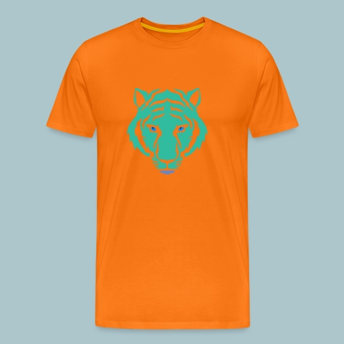 tijger blauw - Mannen Premium T-shirt