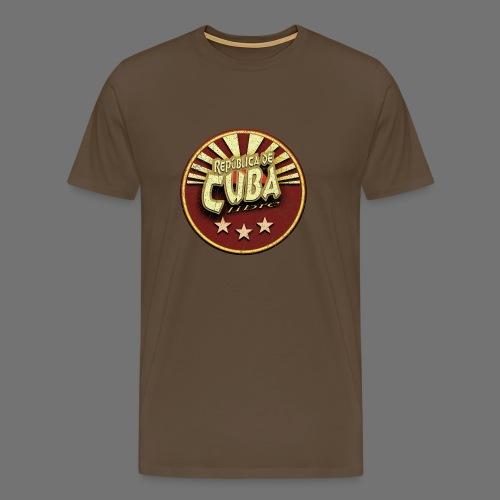 Republica De Cuba Libre (oldstyle) - Männer Premium T-Shirt