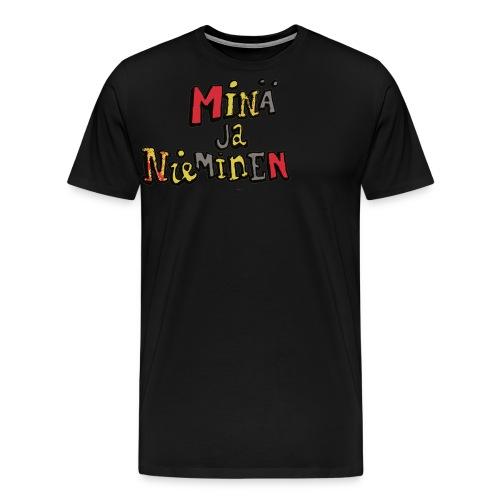 minäjanieminenlogo - Miesten premium t-paita