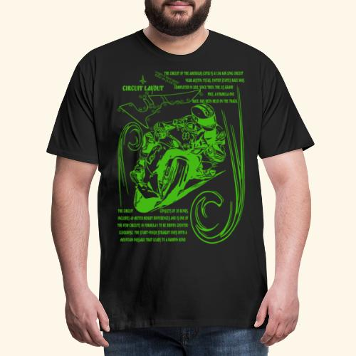 Rennmotorad USA Rennstrecke - Männer Premium T-Shirt