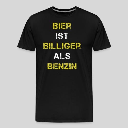Bier ist billiger als Bezin, Bierspruch, Geschenk - Männer Premium T-Shirt