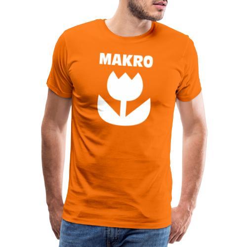Makro Makrofotografie Icon Symbol weiß - Männer Premium T-Shirt