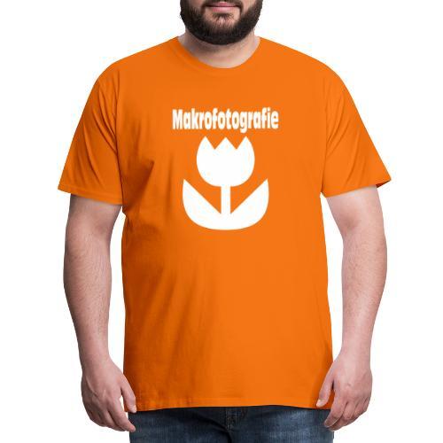 Wort Makrofotografie Icon Symbol Blume weiß - Männer Premium T-Shirt