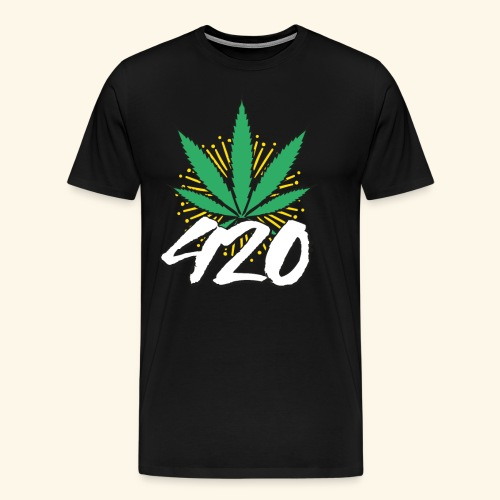 420 Weed Cannabis Smoker - Men's Premium T-Shirt