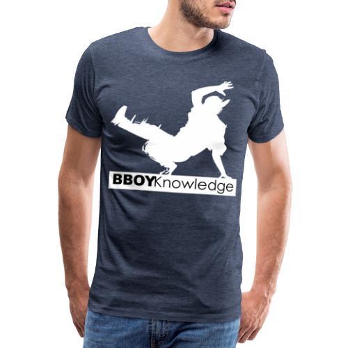 bboy knowledge Blanc & Noir - T-shirt Premium Homme