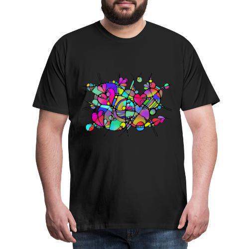Abstrakte Kunst Neuro Art LOVE IS CRAZY 5 - Männer Premium T-Shirt