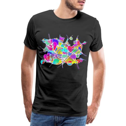 Abstrakte Kunst Neuro Art LOVE IS CRAZY 6 - Männer Premium T-Shirt